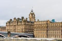 Het hotel van Balmoral in Edinburgh stock afbeeldingen