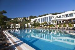 Het Hotel van Bodrum van de Rixospremie, Turkije Royalty-vrije Stock Afbeeldingen