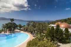 Het Hotel van Bodrum van de Rixospremie, Turkije Stock Foto