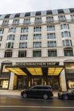 Het hotel van Breidenbacherhof in Dusseldorf, Duitsland stock afbeelding