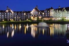Het Hotel van Collingwoodontario bij nacht 2 Stock Afbeelding