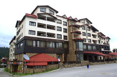 Het hotel van de bergtoevlucht, Bulgarije royalty-vrije stock foto's