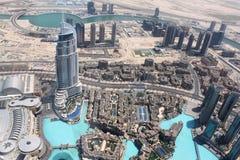 Het hotel Van de binnenstad van het Adres viewd van Burj Khalifa Royalty-vrije Stock Afbeeldingen