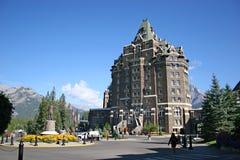 Het Hotel van de Lentes van Banff stock foto