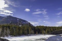 Het Hotel van de Lentes van Banff Royalty-vrije Stock Afbeelding