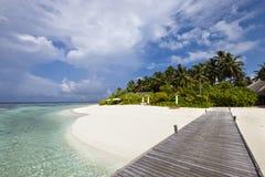 Het hotel van de luxe in tropisch eiland Royalty-vrije Stock Afbeeldingen