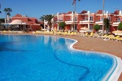 Het hotel van de pool Stock Foto