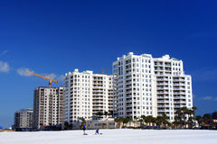 Het Hotel van de strandboulevard Stock Afbeelding