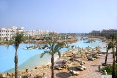 Het hotel van de toevlucht in Hurghada Egypte Royalty-vrije Stock Foto