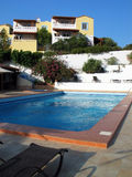 Het hotel van de toevlucht in Kreta Royalty-vrije Stock Afbeeldingen