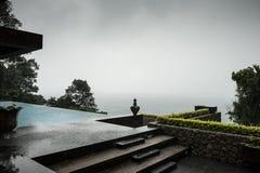Het hotel van de vakantietoevlucht, oceaanmening Royalty-vrije Stock Foto's