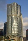 Het Hotel van de vier seizoenen de Internationale Wolkenkrabber van de het Centrumhorizon van het Financiëncentrum IFC Complexe H Stock Foto's