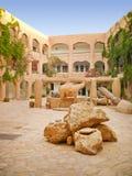 Het hotel van de woestijn in de oase van de Sahara Stock Afbeelding