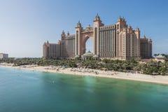 Het Hotel van Doubai Atlantis het Palmeiland stock afbeeldingen