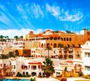 Het hotel van Egypte stock afbeeldingen