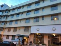 Het hotel van het de wintertoevluchtsoord Stock Afbeelding