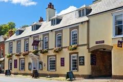 Het Hotel van het Dunsterkasteel in Nationaal Park Dunster, Engeland Stock Foto