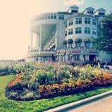 Het hotel van het Mackinaceiland Stock Afbeeldingen