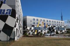 Het hotel van het rasspoor in Oschersleben, Duitsland stock afbeelding