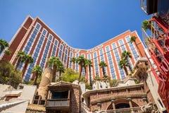 Het Hotel van het schateiland en Casinoingang Stock Afbeelding