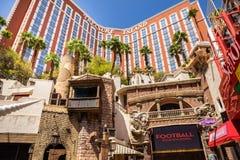 Het Hotel van het schateiland en Casinoingang Stock Afbeeldingen