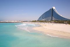 Het hotel van het Strand van Jumeirah stock afbeelding