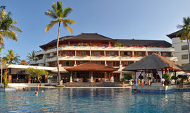 Het hotel van het Strand van Nusa Dua & het Kuuroord, Bali Indonesië Royalty-vrije Stock Foto's