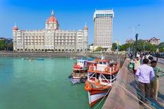 Het Hotel van Mahal van Taj stock foto's