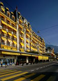 Het Hotel van Montreux Palace Stock Foto