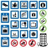 Het hotel van pictogrammen Royalty-vrije Stock Afbeelding