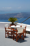 Het Hotel van Santorini Royalty-vrije Stock Afbeelding