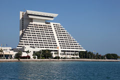 Het Hotel van Sheraton in Doha, Qatar Stock Foto