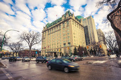 Het hotel van Winnipeg stock afbeelding