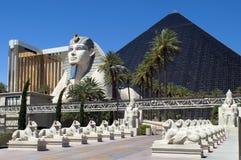 Het Hotel Vegas, Nevada - Luxor van Las en Casino Stock Afbeelding
