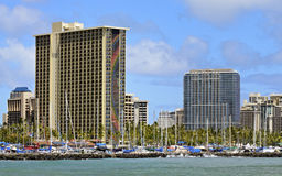 Het Hotel Waikiki van Hilton stock foto's
