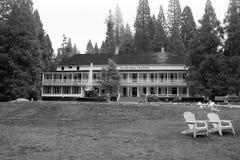 Het hotel Wawona in Nationaal Park Yosemite stock afbeelding
