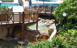 Het hotelgebied Cyprus Stock Foto