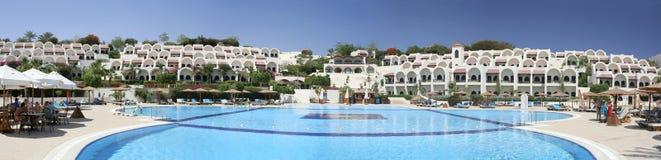 Het hotelpanorama van de zonneschijn Stock Foto