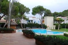 Het hotelpool van de toevlucht in Mallorca Stock Foto's