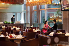 Het hotelrestaurant Stock Afbeeldingen