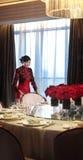 Het hotelrestaurant Royalty-vrije Stock Foto's
