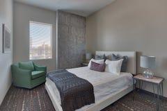 Het Hotelslaapkamer van de vakantietoevlucht Stock Afbeeldingen