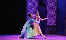 Het houden van de van steun-tweede handeling van de gebeurtenissen van dans drama-Shawan van het verleden Royalty-vrije Stock Afbeeldingen