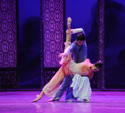 Het houden van de van steun-tweede handeling van de gebeurtenissen van dans drama-Shawan van het verleden Royalty-vrije Stock Foto
