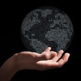 Het houden van digitale aarde Royalty-vrije Stock Foto
