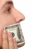 Het houden van dollarstilte Royalty-vrije Stock Afbeeldingen
