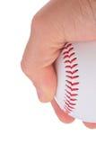 Het houden van een honkbal Royalty-vrije Stock Foto's