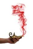 Het houden van een Magische Lamp Royalty-vrije Stock Afbeelding