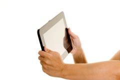 Het houden van een tabletcomputer Royalty-vrije Stock Afbeelding