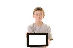 Het houden van een tabletcomputer Royalty-vrije Stock Foto